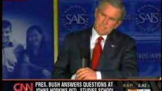 Bush can't answer an important question.