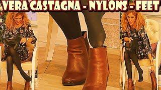 Vera Castagna FullHD Nylons Pantyhose Feet Collant Strumpfhose on QVC Italia
