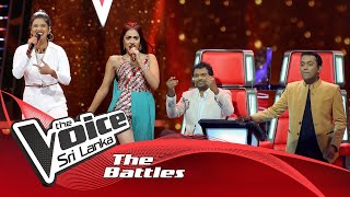 The Battles : Thamodya Athuraliya VS Rozanne De Zoysa  | Hanthane  The Voice Sri Lanka