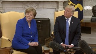 President Trump Meets with Chancellor Merkel of Germany
