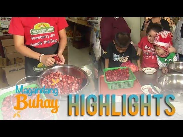 Magandang Buhay: Xia, Carlo, Jordan and Pele watch how to make strawberry jam