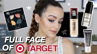 FULL FACE OF DRUGSTORE MAKEUP FROM TARGET