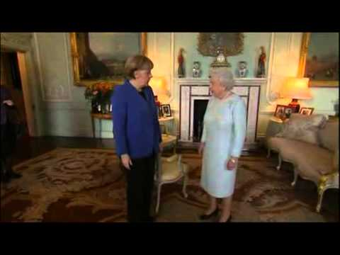 German Chancellor Angela Merkel Meets the Queen