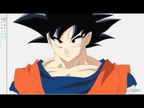Dibujando a Goku - Drawing Goku Dragon Ball movie 2013