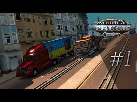 'Lets Play' American Truck Simulator - Goodbye Europe, Hello America! - #1
