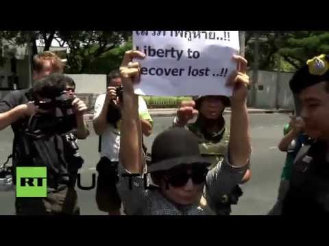 Thailand: Anti-coup protesters rally outside US embassy