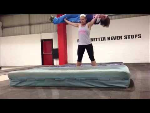 Girl Lifts Girl Overhead Girl Overhead Squats a Girl