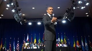 The President Holds a Town Hall with Young African Leaders