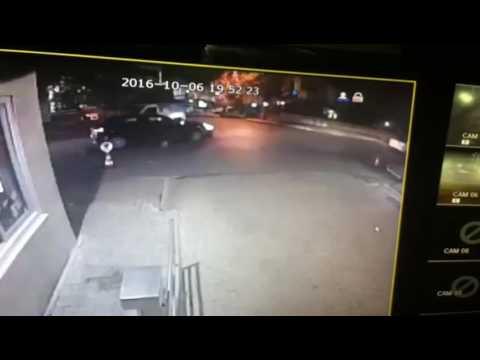Motor Kazası Kameralara Yansıdı