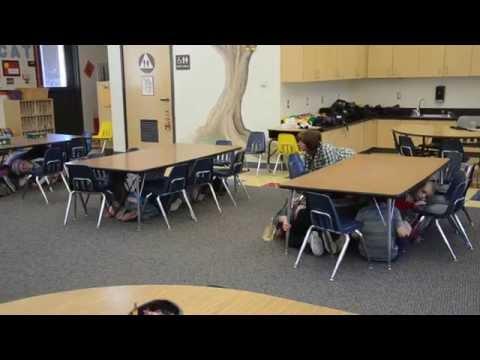 ASC 1749 - ShakeOut Drill Kindergarten Class at Frazier Park Elementary School