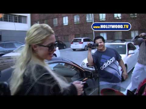 Paris Hilton Sports Her New Ferrari