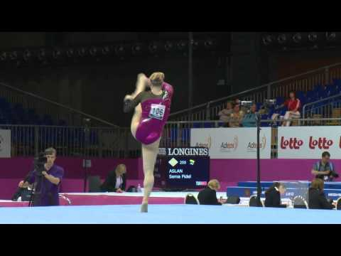 European Championships Brussels 2012, Gaelle MYS (BEL) Floor Exercise