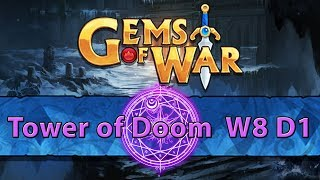 ⚔️ Gems of War Tower of Doom | Week 8 Day 1 | Purple Tower of Doom ⚔️