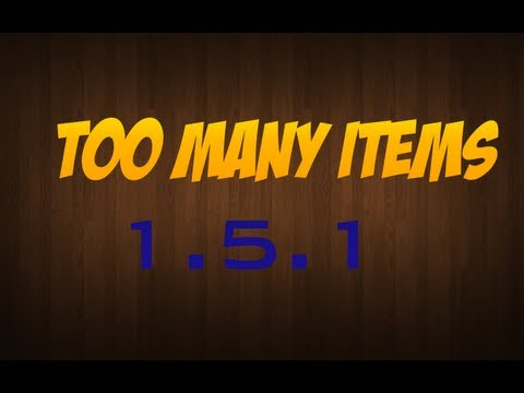 Minecraft Mody- Too Many Items 1.5.1 + Instalacja
