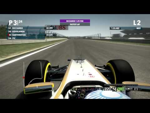 F1 2012 | Narain Karthikeyan | India, Buddh International Circuit | 2 Laps | 1:33.077