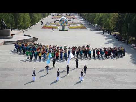 Сегодня в Казахстане активная молодежь участвует в широкомасштабном флешмобе