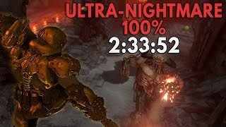 Doom Eternal: 100% Ultra-Nightmare Speedrun in 2:33:52