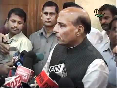 BJP Byte on Petrol Price Hike & Sh. Narender Modi's Fast: Sh. Rajnath Singh: 16.09.2011