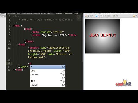 Como Insertar Película Flash SWF en HTML5 - Tutorial de HTML5