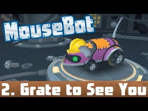 MouseBot побег из Лаборатории #2 Grate to See You Детское игровое видео про Мышку и Котика