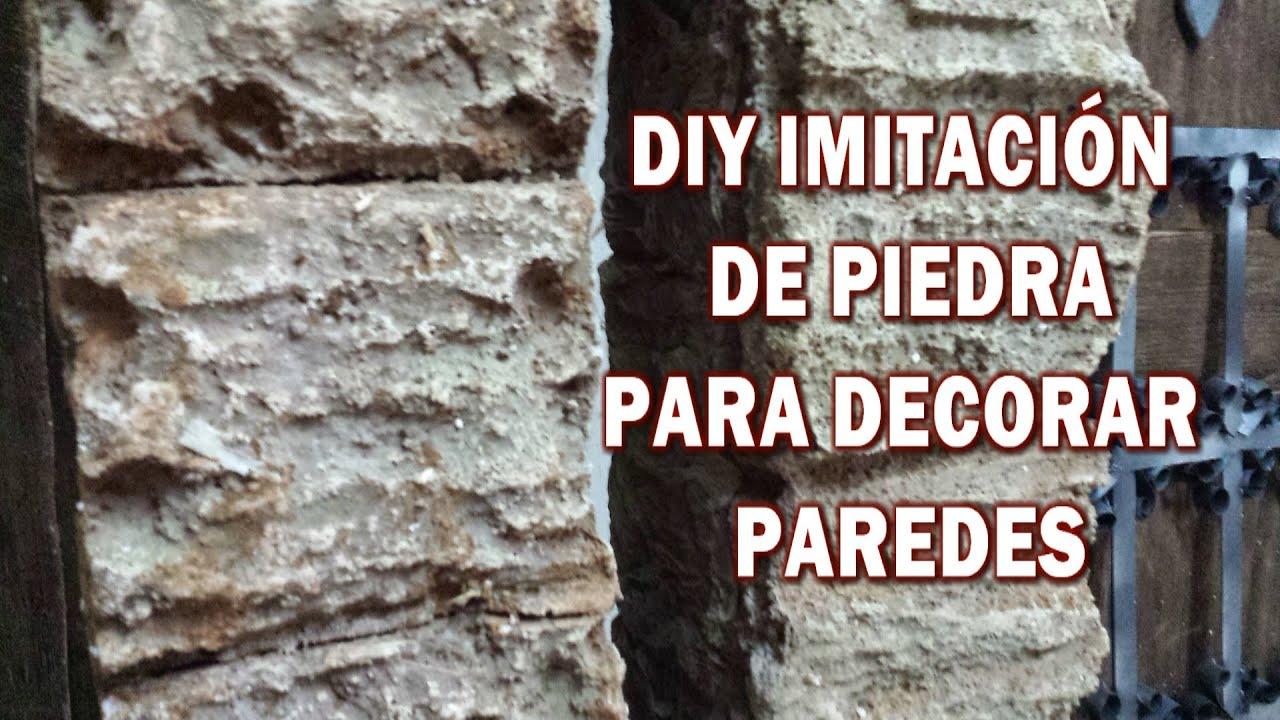 Diy imitaci n de piedra rustica hazlo tu y decora tu casa for Revestimiento imitacion piedra para exterior