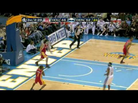 Rockets vs Nuggets (NBA Highlights) 12/16/2009