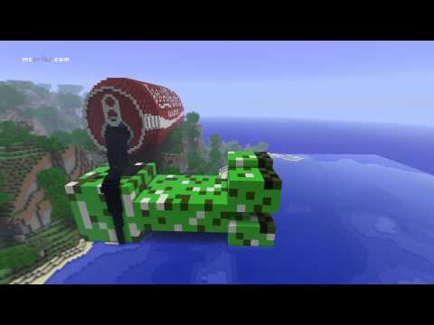 Minecraft monster creeper drinking coke [HD timelapse] Music Videos