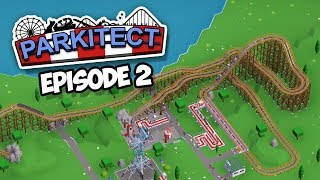 WOODEN ROLLER COASTER - Parkitect #2