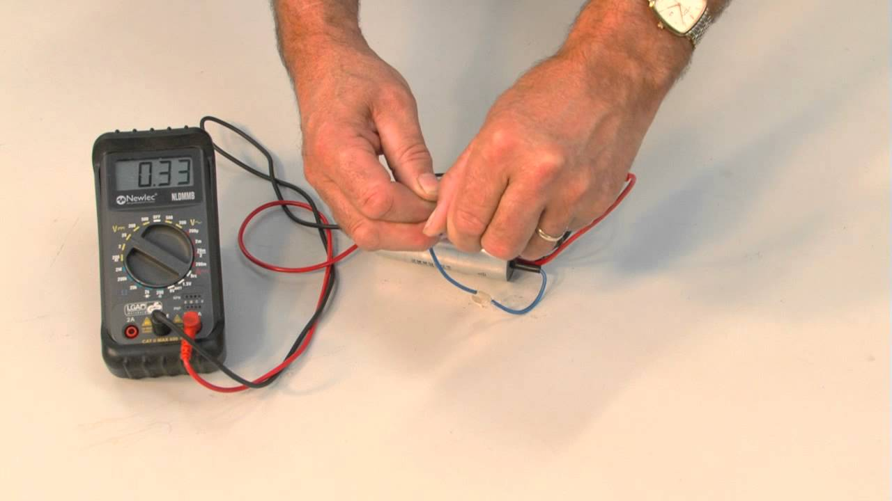 Capacitor test youtube for How to test a motor start capacitor