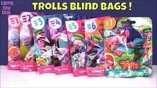Blind Bags Opening Dreamworks Trolls Series 1 2 3 4 5 6 7 Surprise Toys Toy Review