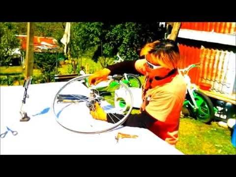 How To Build A Drift Trike Front Wheel  26inch Mountain Bike Rear Wheel  By JACEonDRIFT