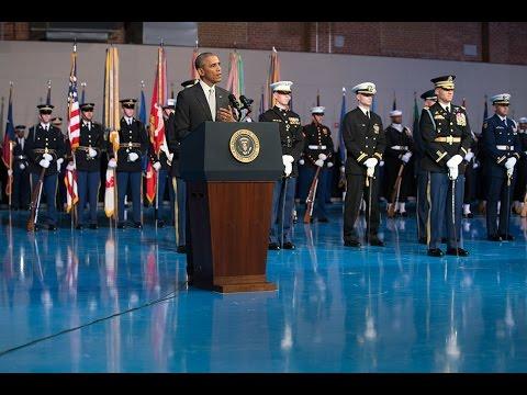 President Obama Delivers a Farewell Tribute to Secretary of Defense Chuck Hagel
