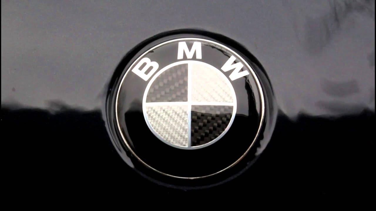 Black Carbon Fibre Bmw Badge E46 330ci With Water Flow