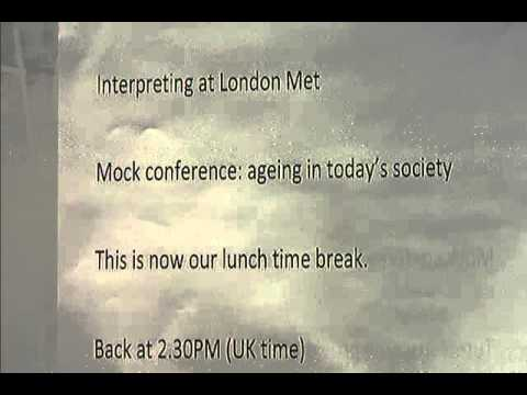 Mock Conference 03/11/15 - Ageing in Today's Society