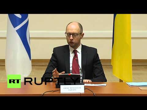 Ukraine: Yatsenyuk hopes DRONES will bring peace to E. Ukraine