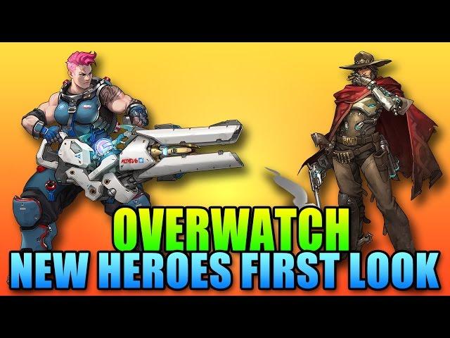 First Look - Overwatch New Heroes - Zarya & McCree