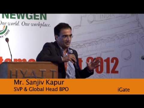 Sanjiv Kapur, SVP & Global Head BPO from iGate talks about Newgen - YouTube