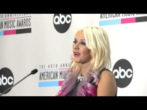 Christina Aguilera in a Skin Tight Dress Announces the 2012 AMA Nominations 3 Music Videos