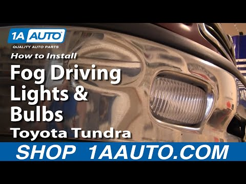 How To Install Replace Fog Driving Lights and Bulbs Toyota Tundra 00-05 1AAuto.com