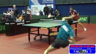 Vladimir SAMSONOV vs LI Yang 1/4 Russian Premier League Playoff Table Tennis