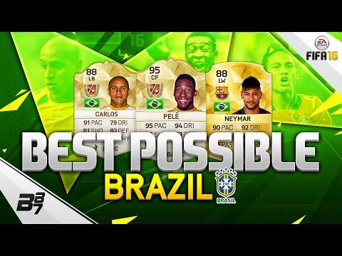 FIFA 16 | THE BEST POSSIBLE BRAZIL SQUAD! w/ PELE AND NEYMAR!
