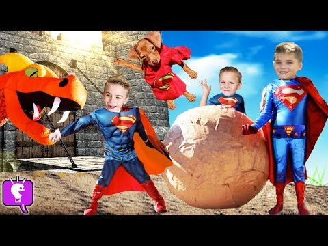 Giant DRAGON Smash Egg With SUPER PUPPY! Toy Surprises By HobbyKids