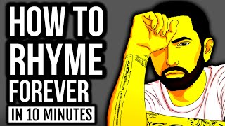 Learn To Rap: Create An INFINITE Number Of RHYMES In Under 10 Minutes
