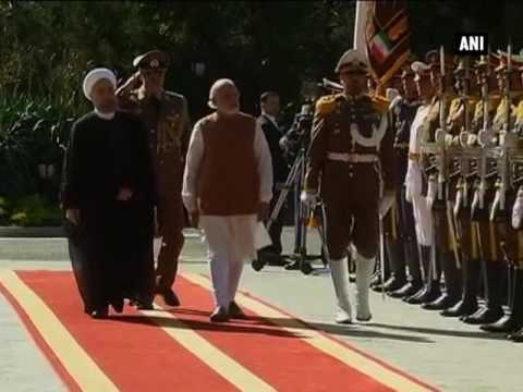 PM Modi accorded ceremonial welcome by President Hassan Rouhani- ANI News