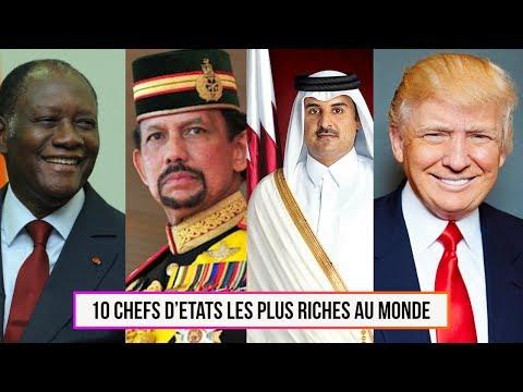 10 Chefs d?Etats les plus riches au monde