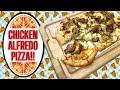 CHICKEN ALFREDO PIZZA!!  QUICK DINNER OR LUNCH IDEA!!