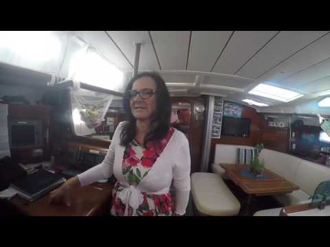 SV Echo Echo Below deck boat tour- Neil and Jeanette Sailing the World Adventures