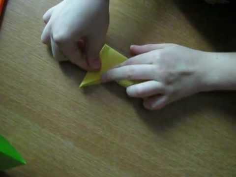 оригами сюрикены видеоурок