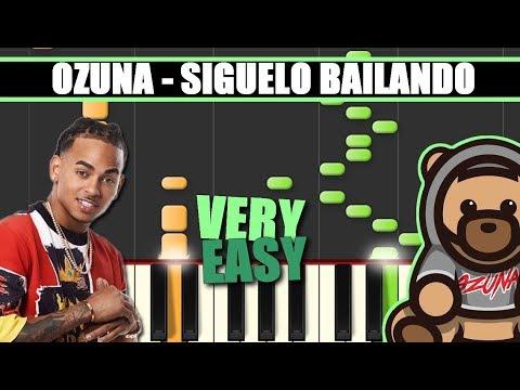 SIGUELO BAILANDO (Ozuna) EASY Piano Tutorial / Cover SYNTHESIA + MIDI & SHEETS
