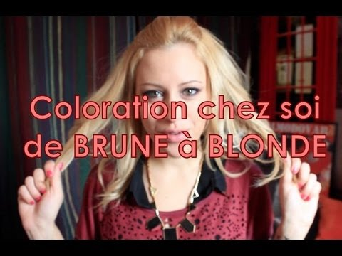 Passer de BRUNE à BLONDE - Go from BROWN hair to BLOND hair